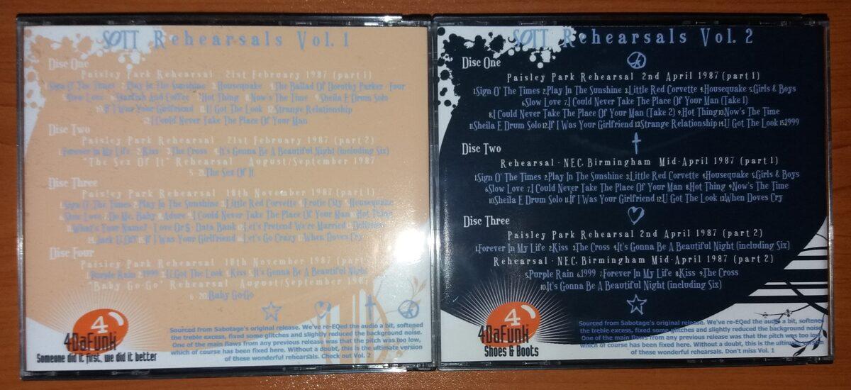 Prince - SOTT Rehearsals Volume 1 & 2 4CD + 3CD