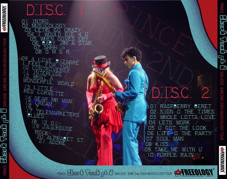 Prince - San Jose June 2nd 2004 Musicology Tour 2CD